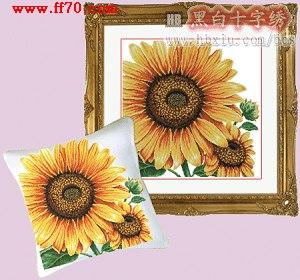 十字绣图纸:向日葵 免费